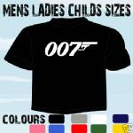 JAMES BOND 007 MOVIE RETRO T-SHIRT ALL SIZES
